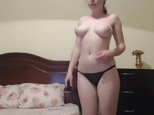 Hot Russian Cam Girl Fingers Pussy on Cam