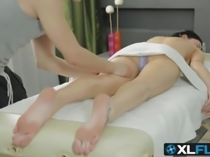 Viola gets ass fucked by a new masseur