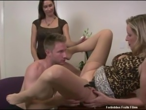 Big Boobs Stepmom and Her Friend Fucked Son