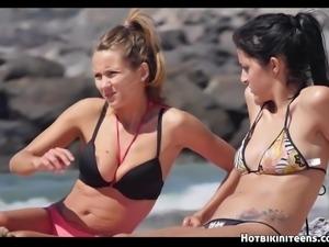 Sexy Topless Bikini Babes beach Voyeur HD Spycam Video