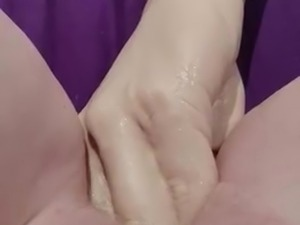 Fist dildo and pussy gaping