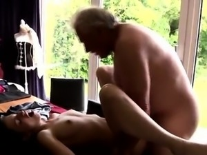 Aubrey gold first time He asks if she can fix his raggy old