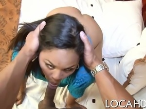 Hot chick gladly bends down to get fucked without leniency
