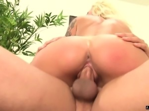 Big breasted blonde milf Alexis Malone has wild sex with her stepson