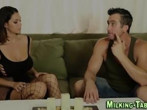 Masseuse sucks big cock