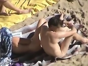 Two couple on the beach