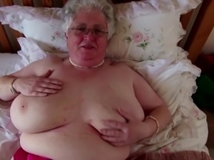 Super granny with big boobs and hungry vagina