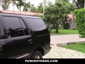Sneaky Teen Fucked and Abused By Neighbor
