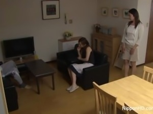 Asian MILF Teen fucked hard while her friend tapes it