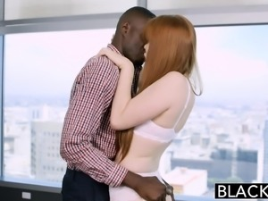Red Head Beauty Loves Black Cock