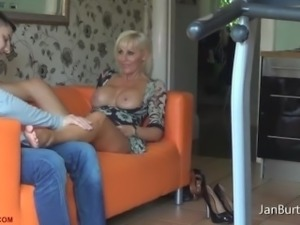 P13 - Feet Massage after shopping Tour from Step Son with no Underwear