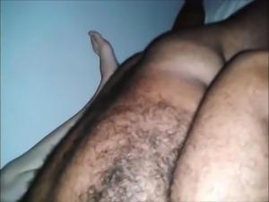 hairy arab cum inside me