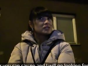 Hot Czech amateur brunette bangs in public