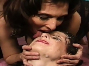 Lena Ramon and Donita are two slutty cum whores who get...