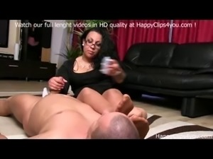 Foot smelling handjob with Gina !