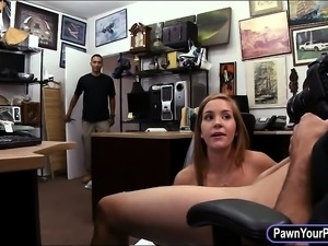 Slut sells her wedding dress and slammed by pawn keeper