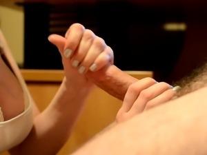 Sensual Massage with Cum on Tits