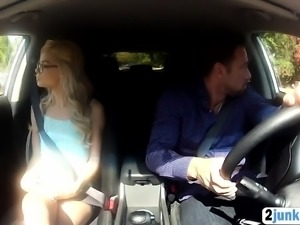 Teen on the highway asks a ride that ends in sex.