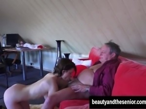 Young maid Veronica gets fucked by old Harry