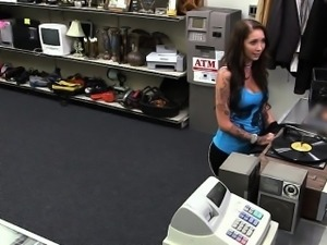 Hardcore sex with a Hottie Bartender and the pawnshop owner