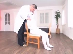 Subtitled bizarre Japanese woman bandaged head to toe