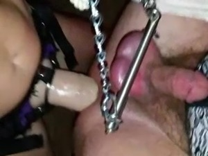 Extreme FemDom pegging 15 inch strap on Plus hard CBT