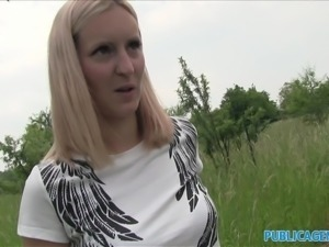 PublicAgent Amazing natural boobs bounce as she rides cock