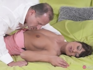 This seductive brunette mom, Tera Joy, is like a real hurricane. She started...