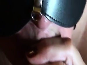 Foreskin consume and play with cumshot