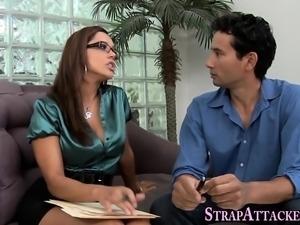 Toying mistress swaps cum