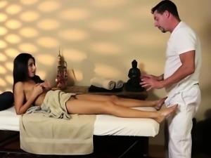 Very tricky massage room of graceful masseur