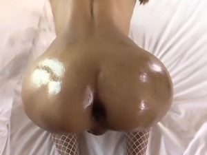 Ladyboy with braces anal fucked deeply by hard cock
