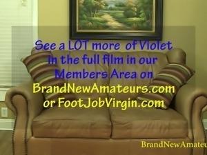 BrandNewAmateurs Violet Audition Reel Interview to Nude