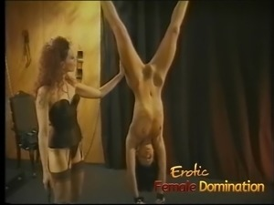 Beautiful skinny brunette slave learns what BDSM is all