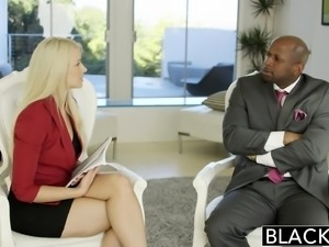 Business Blonde Wife Ass Fucked By a BBC