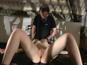 Bdsm double perversion fuck for submissive young slaves