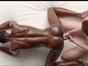 Aesthetic black cock stimulation massage