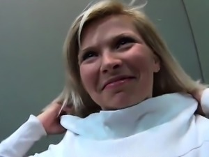 Attractive czech kitten is seduced in the mall and screwed i