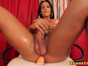 Bigdick latin trans babe toys her big booty