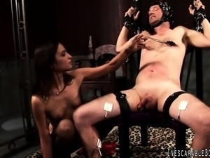 Insatiable mistress is eager to punish and satisfy a lusty guy