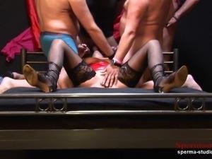 Multiple Cumshots Orgy - Marina Part 1 ----------