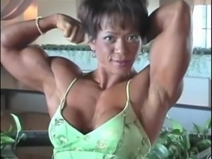 Asian Muscle FBB Becky R Classic short Footage 2