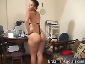 Brazilian Facials -Hot  Nerd Ebony Teen