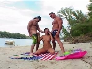 Double Penetration on the Beach