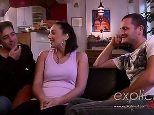 Amazing double anal for a French debutante Nathalie Sainloui