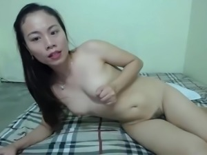 Cute Asian Rubbing it Out
