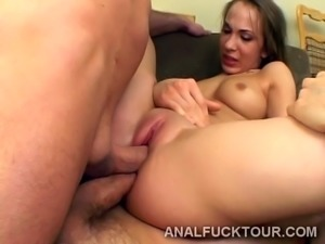 Big dicks team up to destroy hottie's backdoor