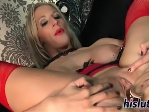 Two naughty babes get rammed by a machine