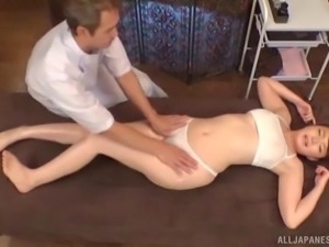 Real Japanese beauty gets more than just an erotic massage