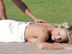 Relaxxxed - Erotic outdoor massage and fuck with Czech babe